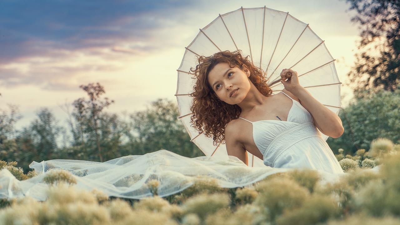 Retrato de Chica joven en exterior