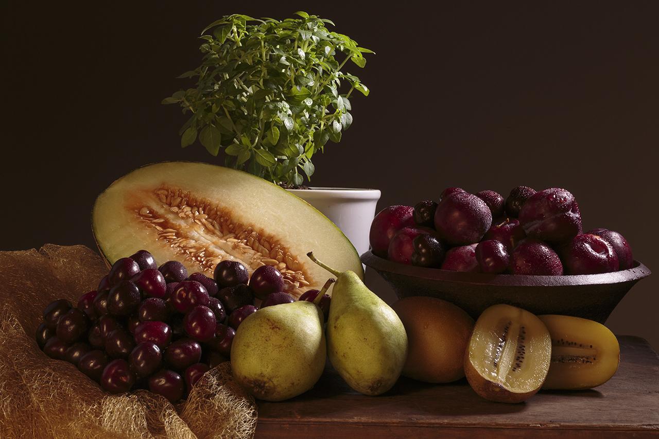 Bodegón clásico de fruta