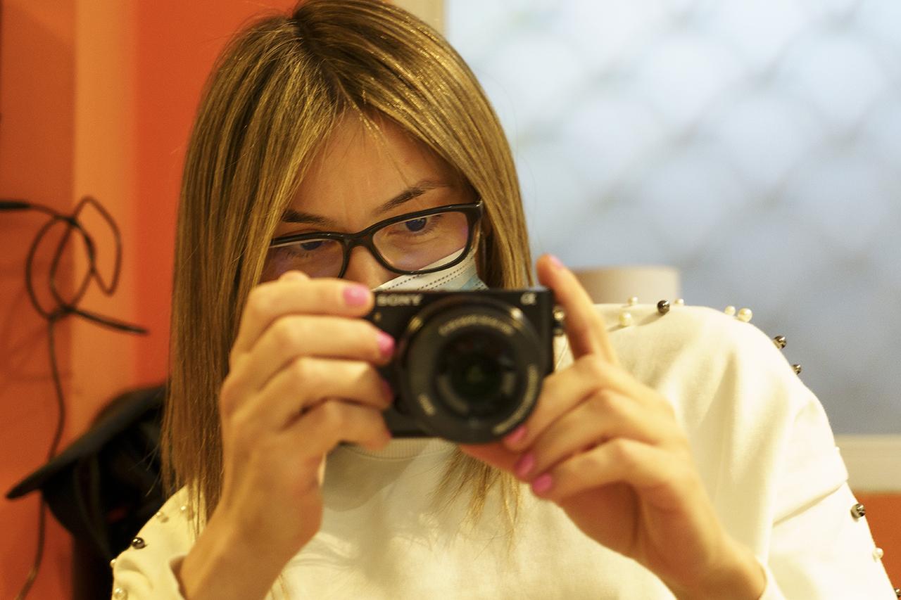 Fotógrafa aprendiendo