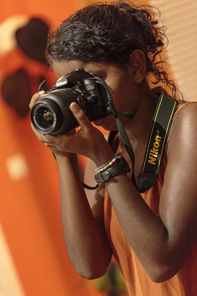 alumna de fotografía