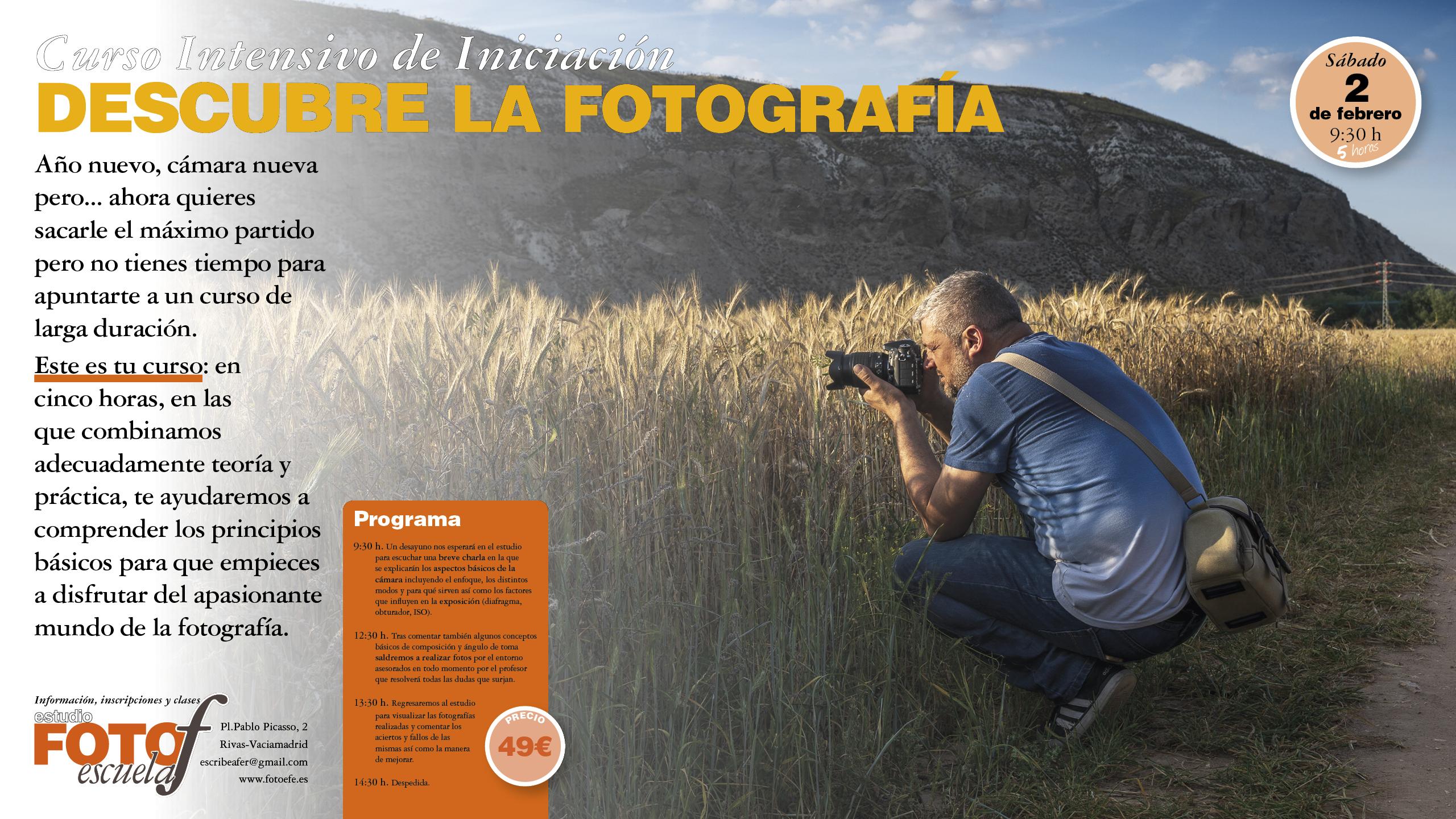 Curso Intensivo de Iniciación a la Fotografía
