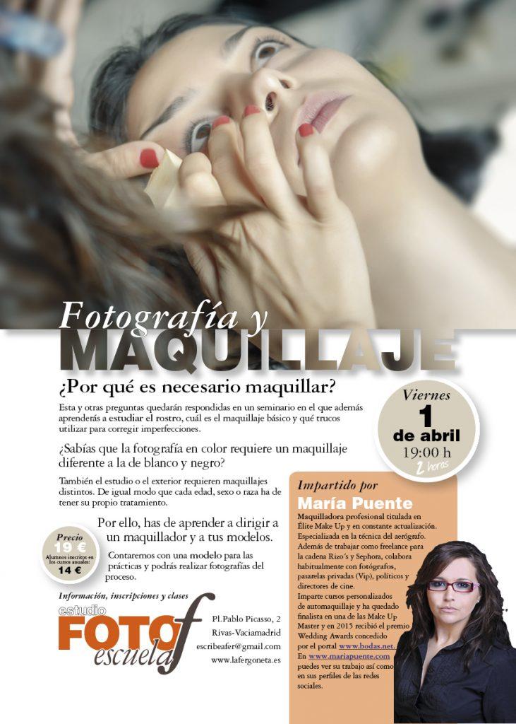 Cartel anunciador del Seminario de fotografía y maquillaje