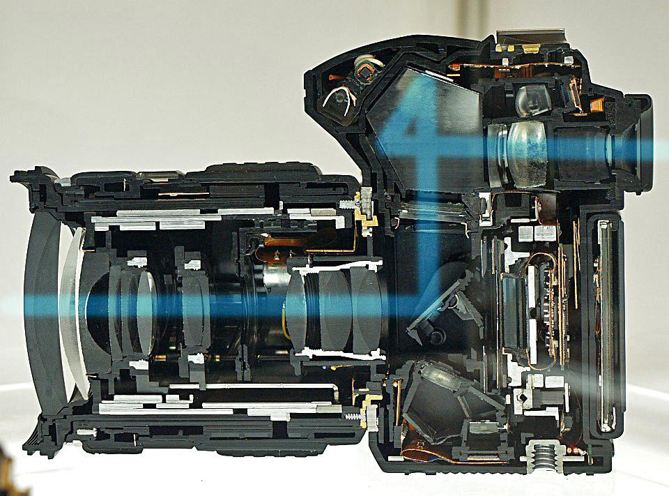 Esquema de una cámara réflex